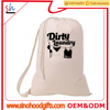 customize wholesale 2016 best sell cotton canvas dirty laundry bag lingerie bag