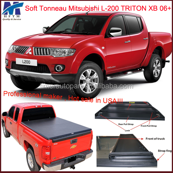 High quality pickup bed cover truck parts Mitsubishi L-200 Triton XB 06+
