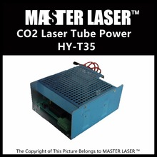 New Generation High power Laser Tube HY-T35 35W Laser Engraving and Cutting Machine CO2 Power Supply