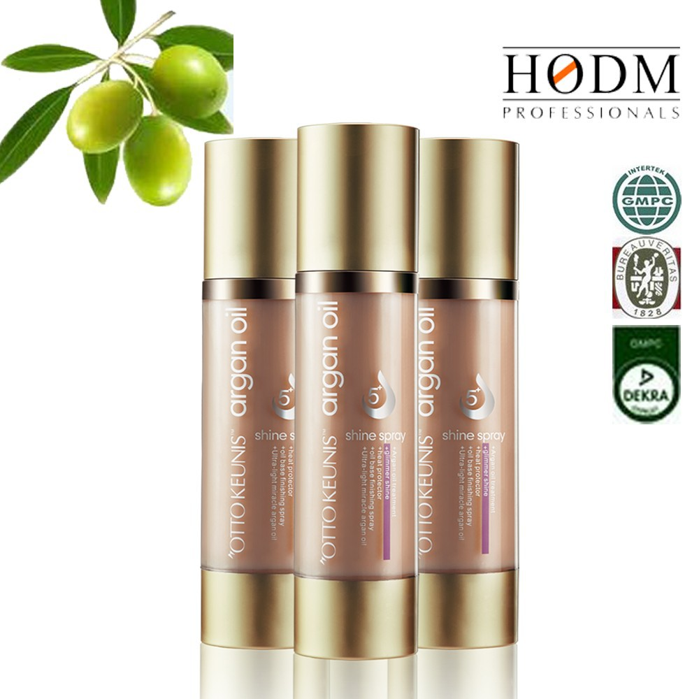 Moisture Deep Recovery Natural 5+ glitter shining argan oil hair care spray private label/customized