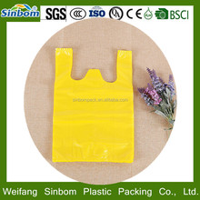 Customize reusable blue plastic shopping bag