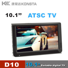 leadstar 10 inch TV portable lcd television mp3 mp4 player support TF card USB in outdoor touch buttons