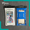 Waterproof cell phone bag cover with adjustable reflective band