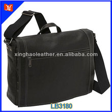 Fashion Vertical Best Men Genuine Leather laptop messenger bag