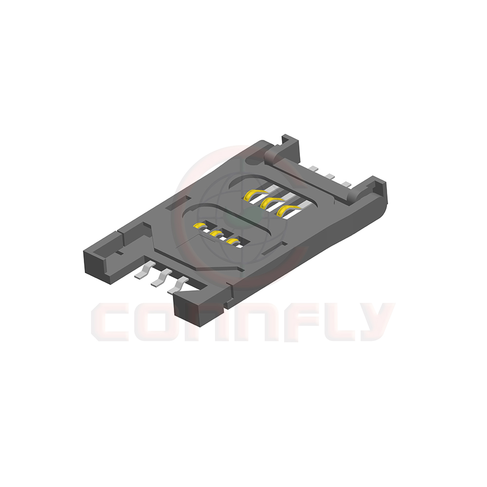 2.54mm H=2.8mm 6 Positions SMT Type SIM Card