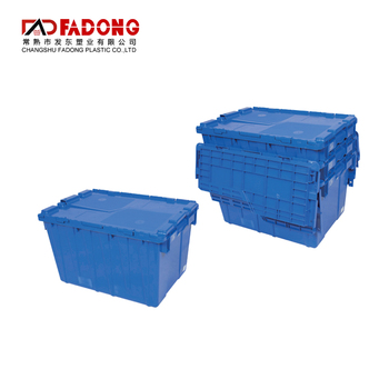 Stackable Turnover Gross Plastic Tote Box Storage Moving Crate
