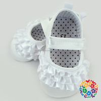 White Vintage Fashion Latin Stylish Dance Shoes Cute Kids Shoes Cheap