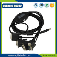 Low Cost FTDI chip USB 2.0 to 4 Port RS232 Cable Driver for Win7/8/10