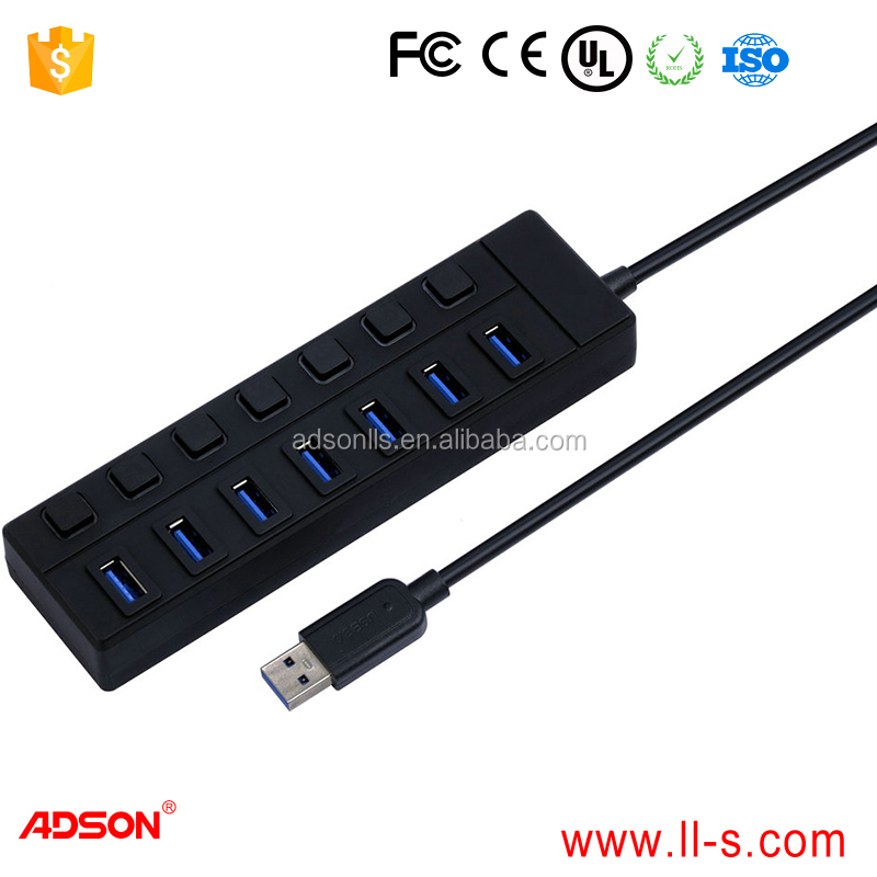 2-4 Ports and USB3.1/M TO 3.0HUB 7 Ports Interface Type 4 port usb hub to usb3.1 type c black