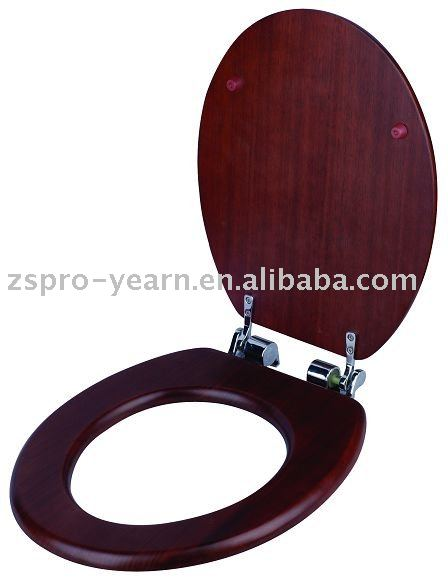 hot-selling slow-close wooden toilet seat cover