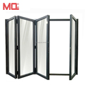 Aluminum folding doors with screen door anti-insect