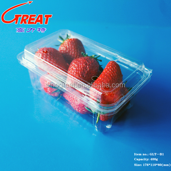 High quality Disposible plastic food PET tray/strawberry/blueberry clamshell tray