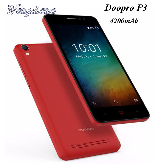 "Wholesale Doopro P3 5.0"" 4200mAh Mobile <strong>Phone</strong> MTK6580 Quad Core <strong>Android</strong> 6.0 Cell <strong>phone</strong>"