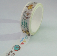made in china free sample Lovely washi paper tape korean stationery