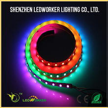 Hot selling ws2812b 5V digital led strip 5050 rgbw build in ic individual addressable 30leds/m factory price
