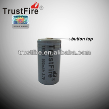 Trustfire original factory high drain imr18350 lithium ion battery cell 800mAh 3.7V rechargeable for e-cigarette