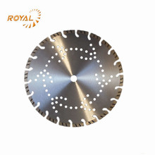 Segmented welded diamond saw blade for marble and granite