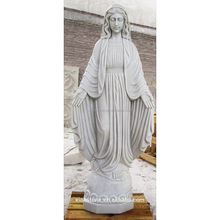 1.3M White marble virgin mary Hand Carved garden statues made in china