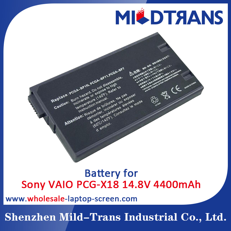High quality laptop battery for Sony PCGA-BP71 PCGA-BP7 VAIO PCG-X18 PCG-X29 PCG-X9 PCG-700