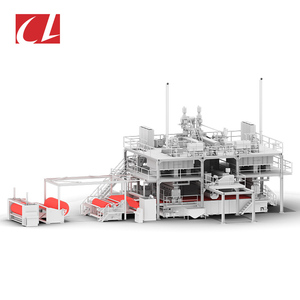 CL-SMS PP Spunbond Meltblown Composite Nonwoven Fabric Making Machine for Sanitary Towel