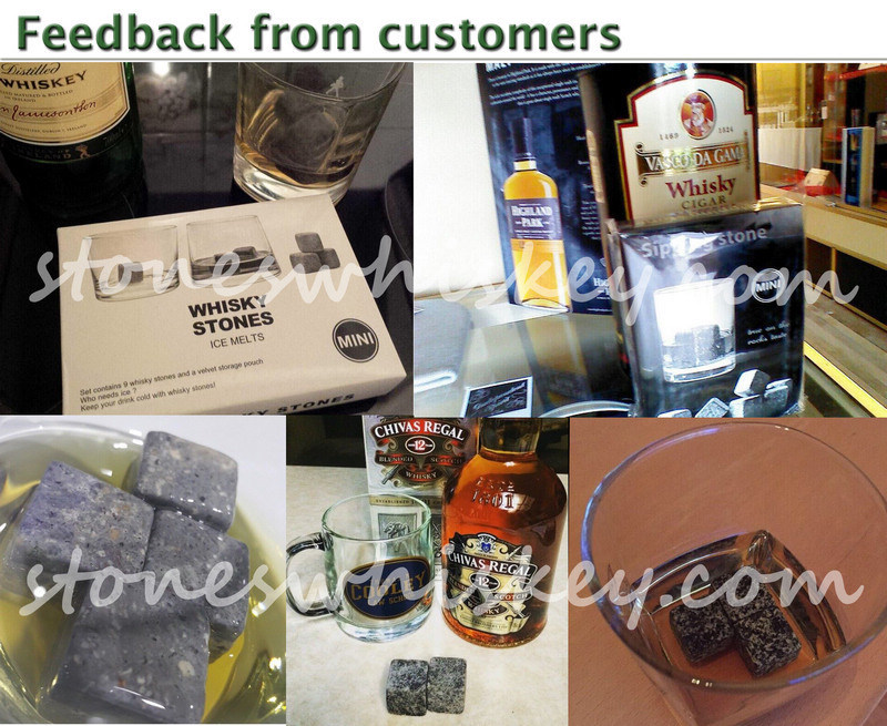 8 pcs rock in wooden box | high quality whiskey stone | whiskey cube stone