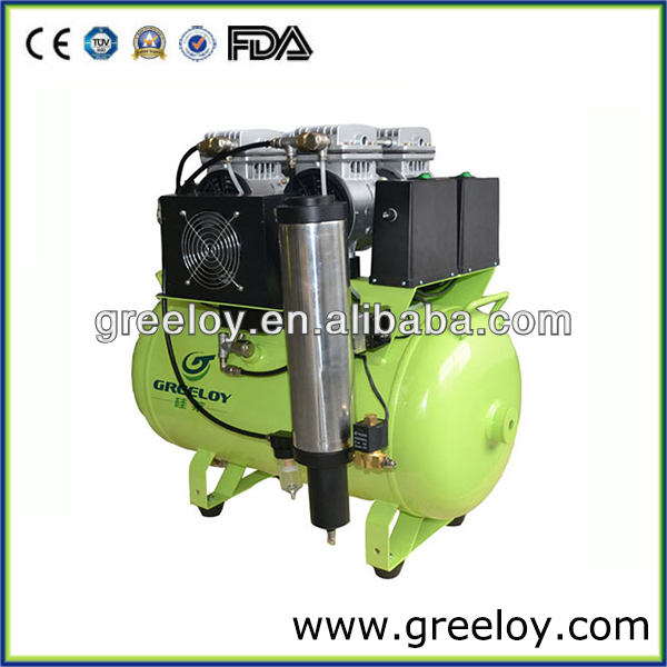 Dental Silent Oil-free Air Compressor with Air Dryer and Air Cooler