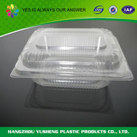 Transparent disposable packaging box for food