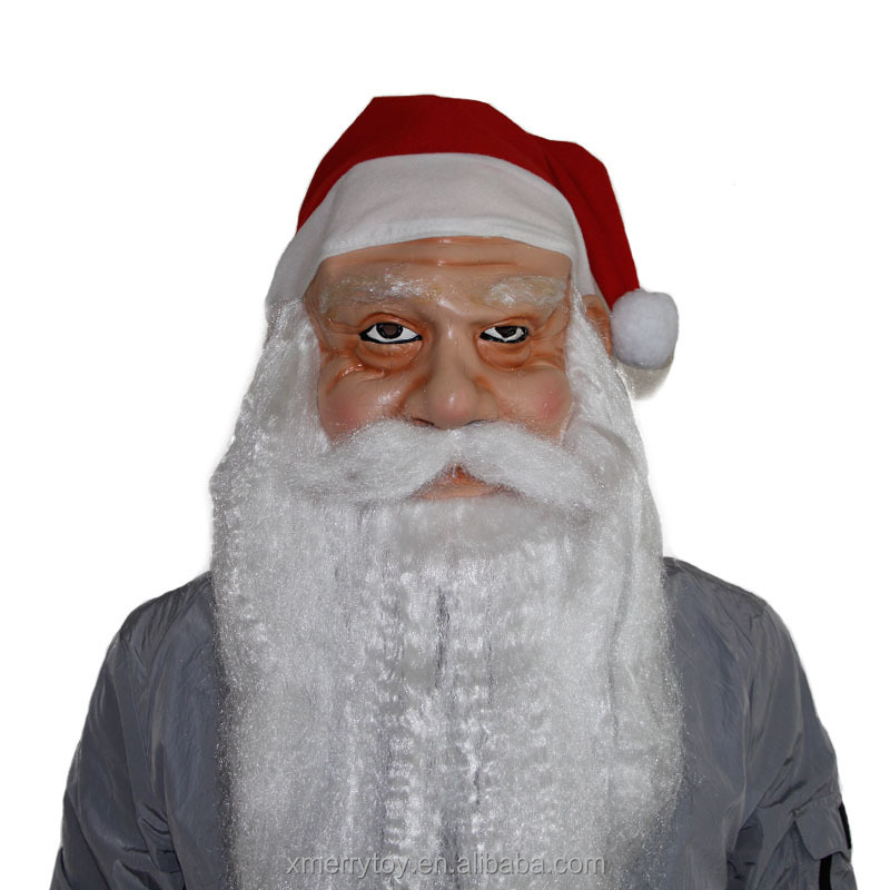 2018 New Product Santa Claus Christmas Funny Mask New Face Adult Masquerade Costume Party Full Mask x12022B