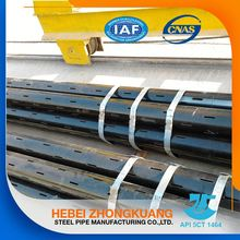 metal j55 slot casing tube pipes for stair