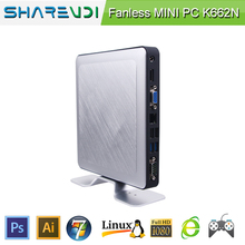 Ultra Low Power Thin Client Fanless PC Barebone windows8.1 mini pc usb 3
