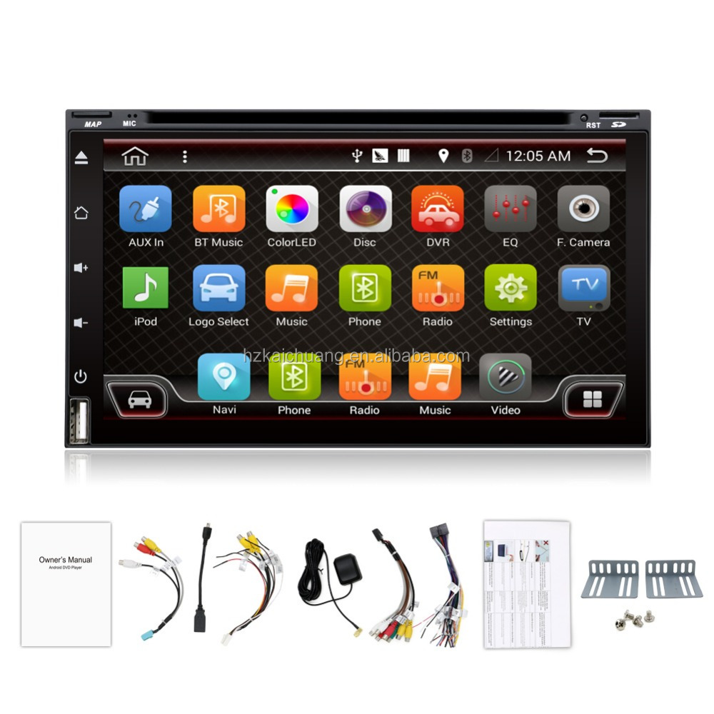 2 din 6.95 inch Universal Android 6.0.1 Car DVD Player Head Unit with 3G Wifi GPS Navigation Radio BT DVD 3g Wifi Rds big USB