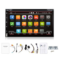 2 din 6.95 inch Universal Android 4.4.4 Car DVD Player Head Unit with 3G Wifi GPS Navigation Radio BT DVD 3g Wifi Rds big USB
