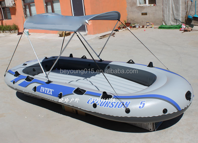 INTEX excursion 5 person inflatable fishing raft boat sale