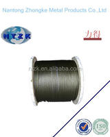 8X19S+FC 8mm ungalvanized steel wire rope for elevator
