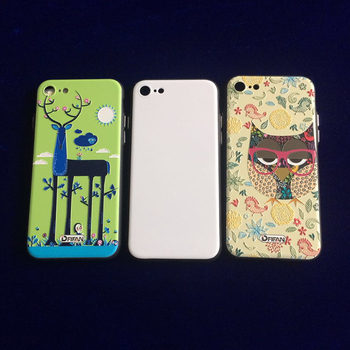 DFIFAN Custom printing white hard pc blank case for iphone 6 7 8 3D Sublimation Personalized phone case for apple iphone case