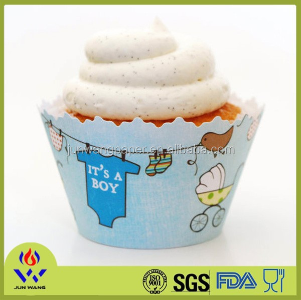 180gsm paper + 15 PE coating cupcake paper cases cake cup