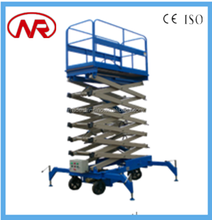 factory price with high quality four wheels hydraulic walking platform scissor lift