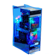 custom design clear led acrylic computer case