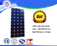 New Design Polycrystalline Silicon Materia Price Per Watt Solar Panels 250 Watt For Home Use