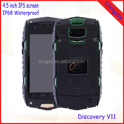 "Android 5.0 Rugged IP68 Waterproof Cell Phone 4"" Quad Core Dual SIM with GPS WiFi"