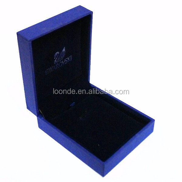 Royal Blue Color Earrings Necklace Pendant Gift Box OR Jewelry Box