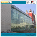 Reflective glass thickness used commercial aluminium frame wall glass partition price