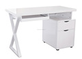 Hot selling low price white computer desk or table high gloss