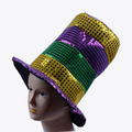 Multicolor Halloween Jester Clown Mardi Gras Party Costume Hat