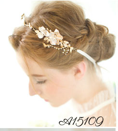 Antique Gold Vintage Style Metal Feather and Rhinestone Show Actor Hair Accessories Retro Hair Comb