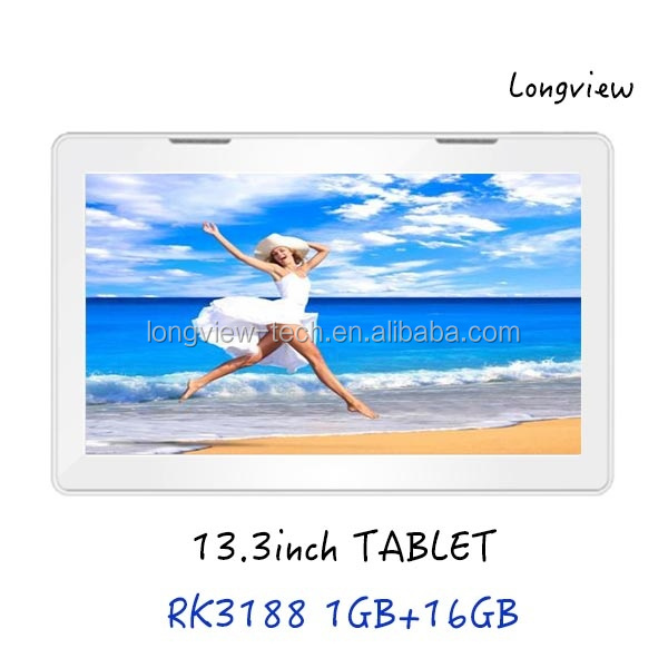 RK3188 quad core 13.3 inch android 4.4 super smart tablet pc wifi 1G/16G front/rear camera