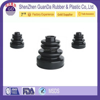 Customized Shock Absorber accordion rubber bellows rubber shock absorber bushes with flange