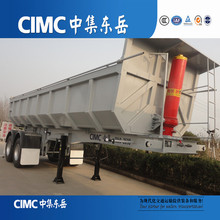 CIMC U shape behind dump truck semi trailer and aluminum dump box