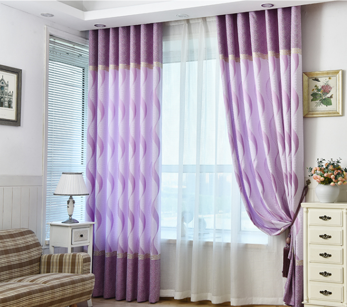 Polyester cotton fabric sunscreen window curtains