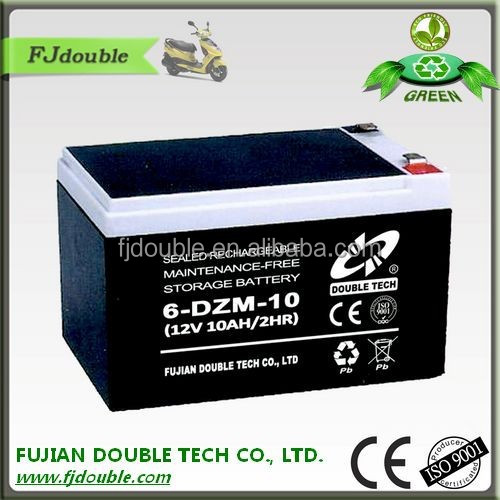 sealed maintenance free hot sale -bike 12v 10ah 6 dzm 10 lead acid battery